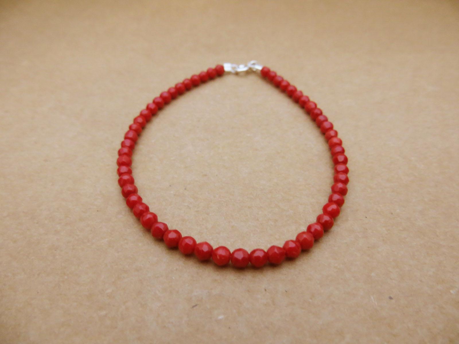 Βραχιόλι κόκκινο κοράλι  8b719ed5ba4